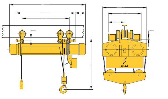 Таль электрическая (тельфер) ТЭ1000