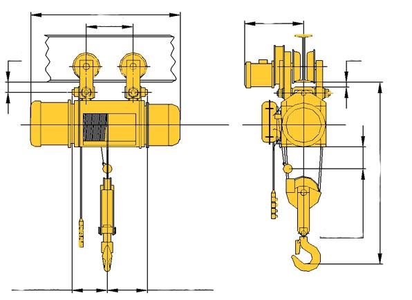 Таль электрическая (тельфер) ТЭ500