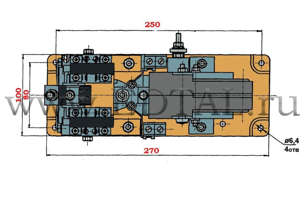 Чертеж контактора КТЭ-02-250, КТЭ-02-160