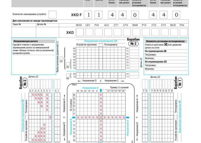 Схема замыкания контактов XKDF-11-440-440