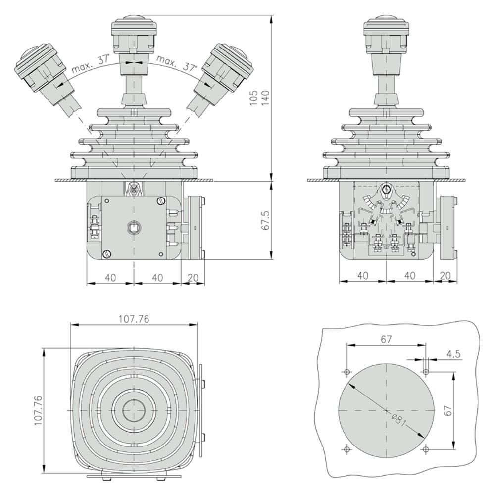 Габаритно-присоединительные-размеры-джойстика-VCSO
